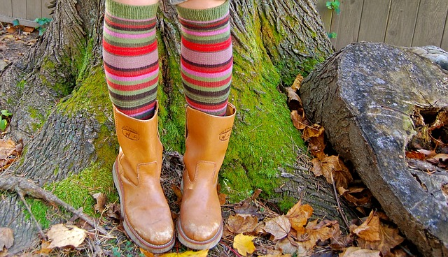 kožené podzimní kozačky