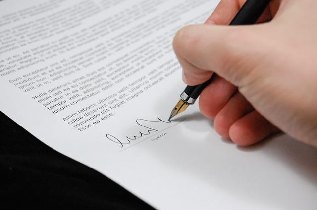 podpis listiny