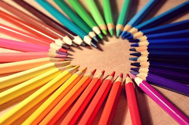 srdce z pastelek