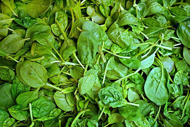 špenátové listy