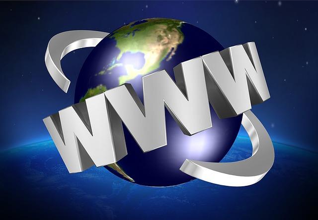 zeměkoule a okolo ní WWW
