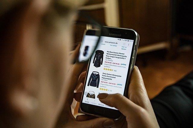 nakupování na mobilním internetu