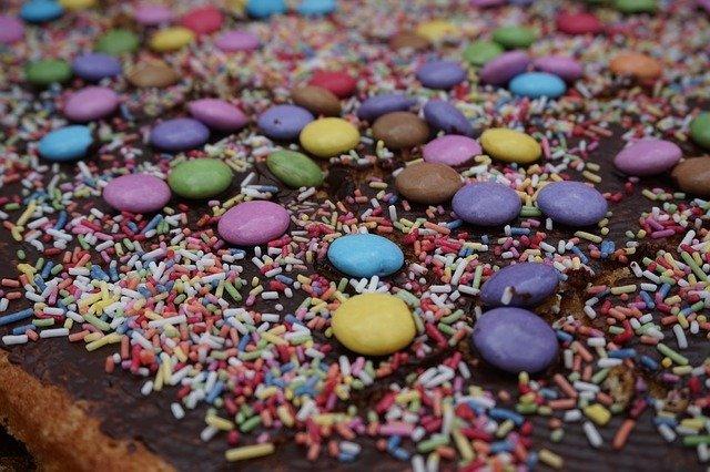 Sladkost s lentilkami