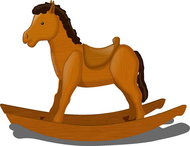 houpací kůň ze dřeva