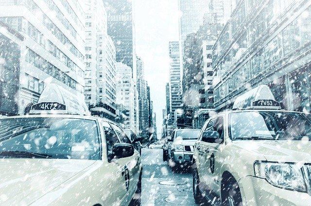 sněžení v NY