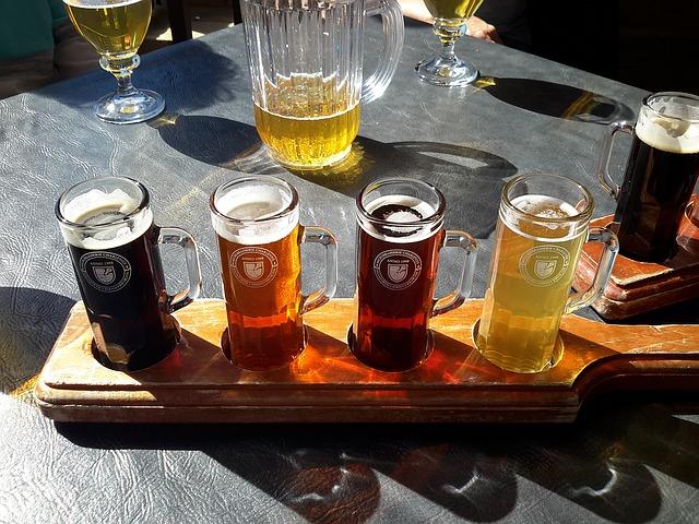 nabídka různého piva
