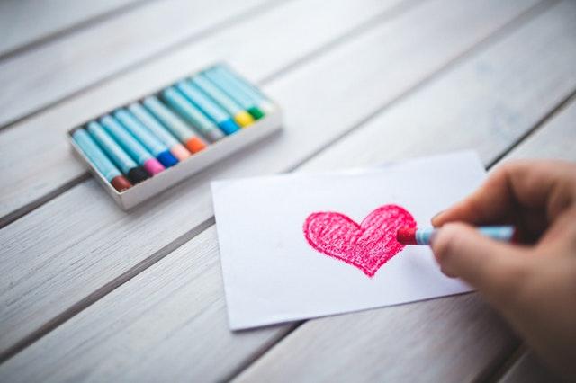 namalované srdce